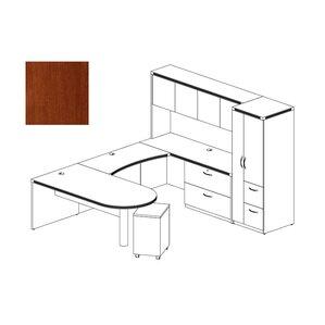 Aberdeen 4 Piece Series U Shape Desk Office Suite