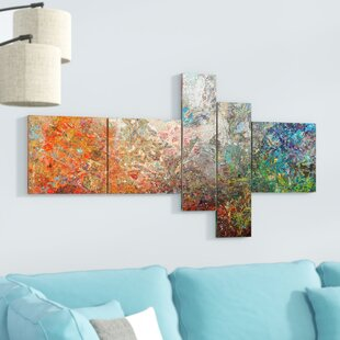 U0027Board Stained Abstract Artu0027 Print Multi Piece Image On Canvas
