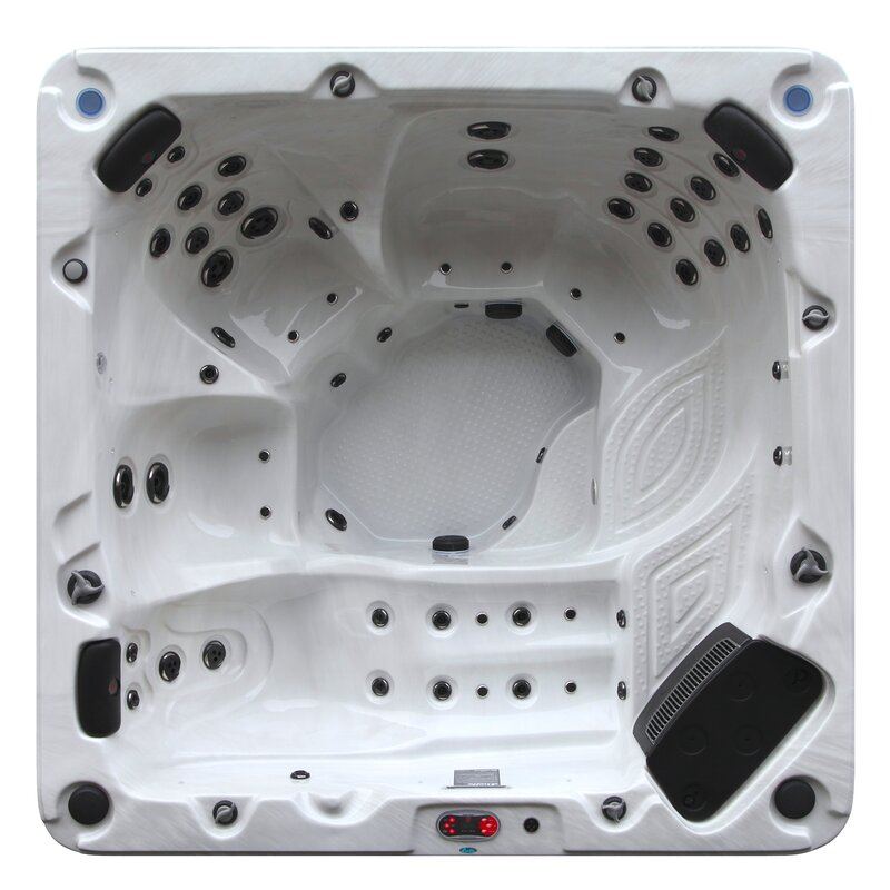 Canadian Spa Co Niagara 7-Person 60-Jet Spa with Backlit Waterfall ...