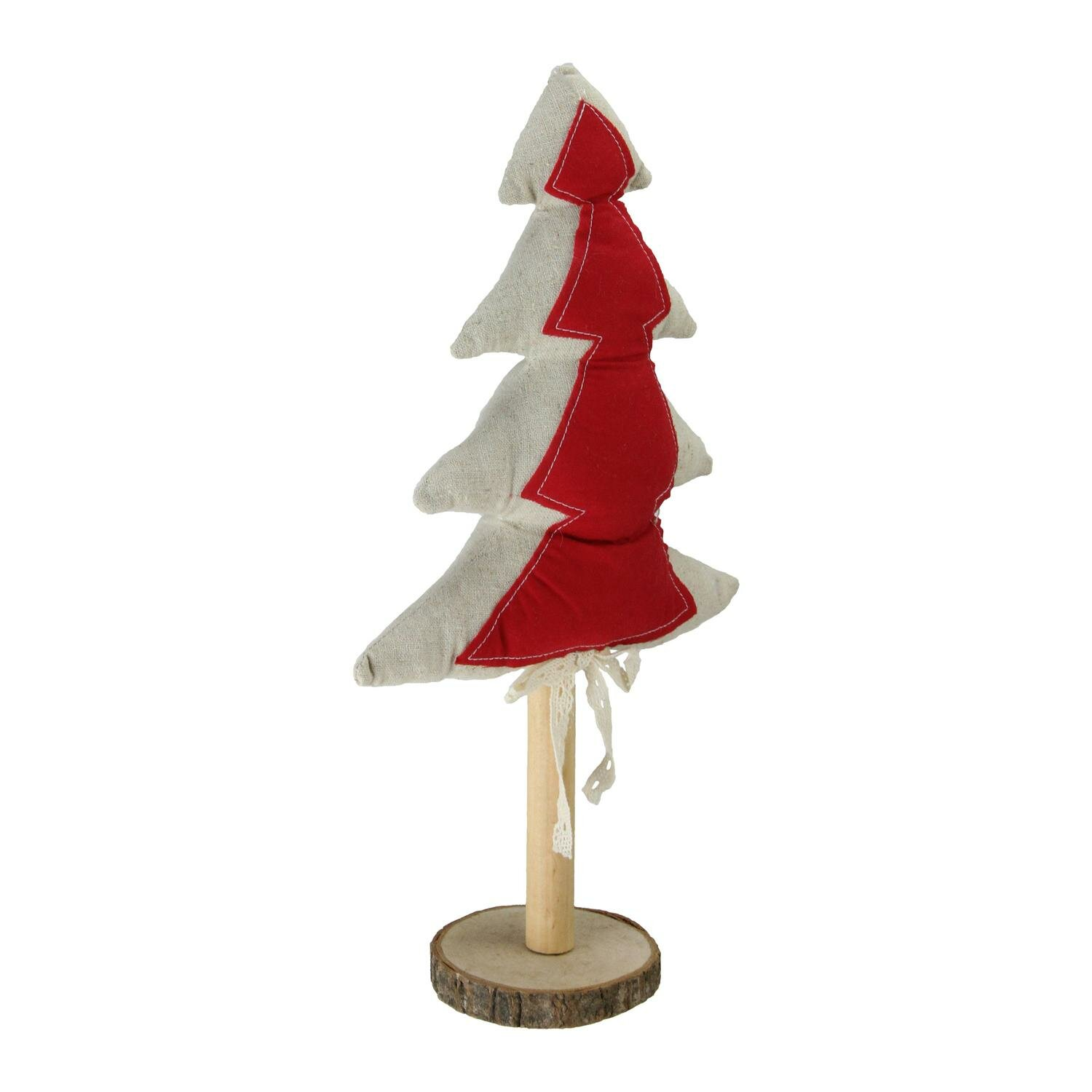 Neutral Decorative Christmas Tree Tabletop Decoration With Wooden Base