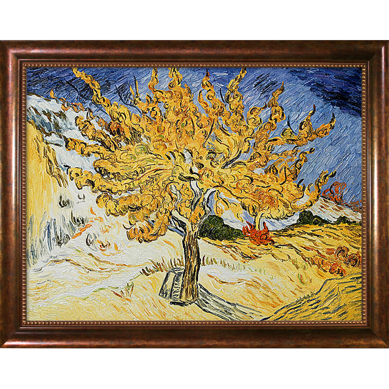 Wildon Home ® The Mulberry Tree\' by Vincent Van Gogh Framed Painting ...