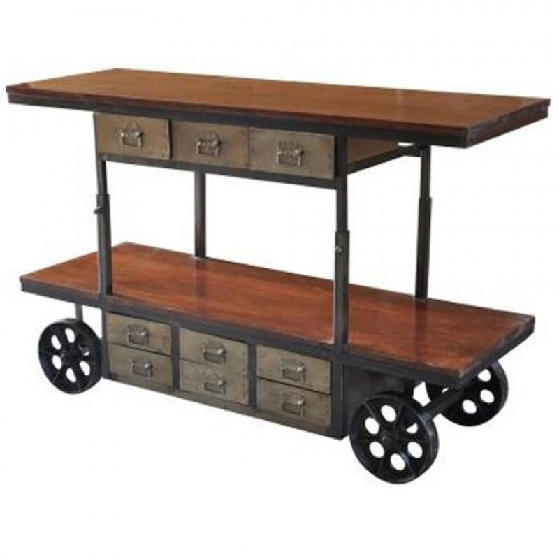 Lilliana Mango And Iron Bar Cart