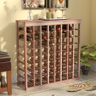 Karnes Redwood Table Top 64 Bottle Floor Wine Rack
