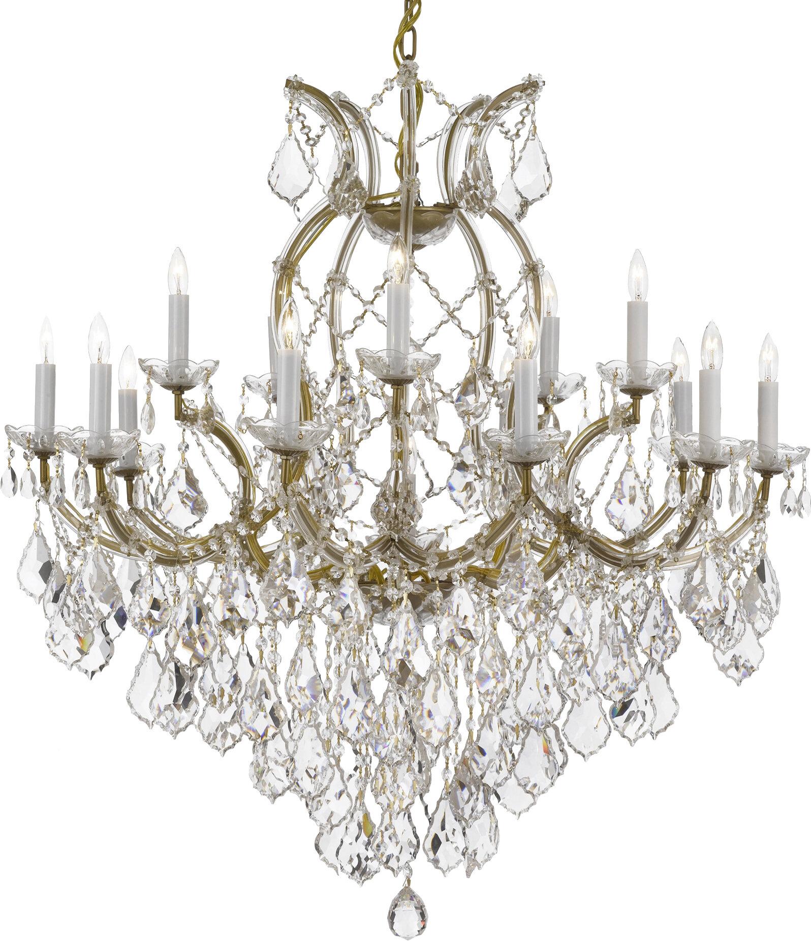 Rosdorf Park Brooksland 16 Light Candle Style Chandelier Reviews Wayfair