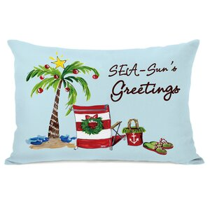 Seasun's Greetings Lumbar Pillow