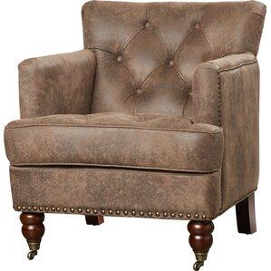 harley tufted arm chair