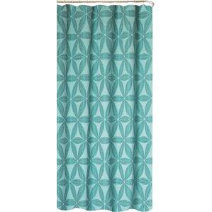 iris fabric shower curtain