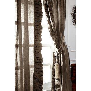 Brown Ruffle Curtains