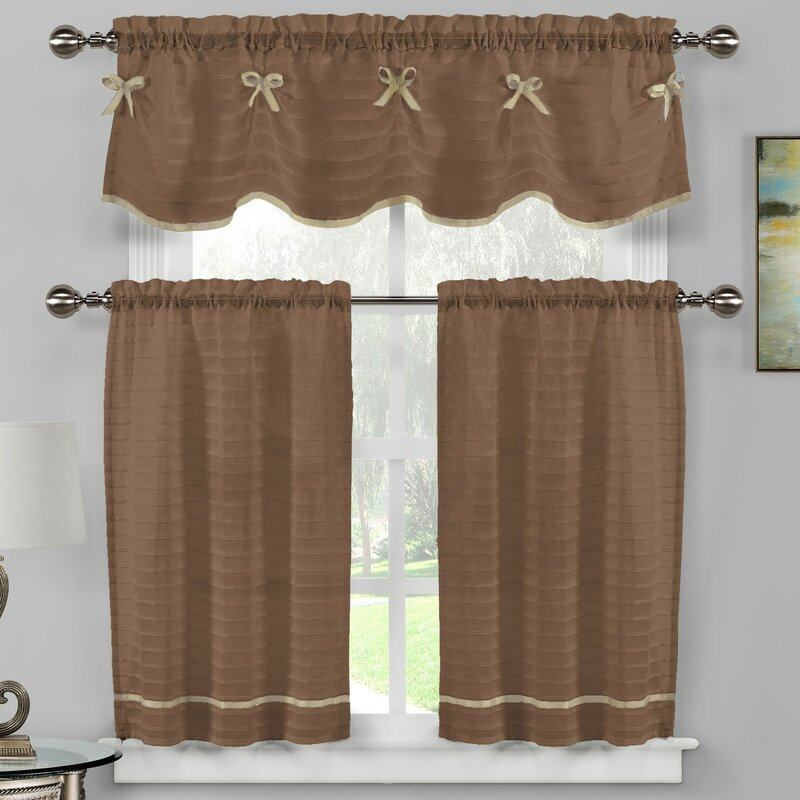 3 Piece Kitchen Curtain Set Coshocton