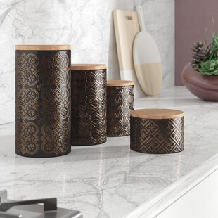 4 Piece Kitchen Canister Set Of