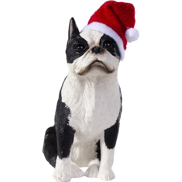 boston terrier ornament wayfair - Boston Terrier Outdoor Christmas Decoration