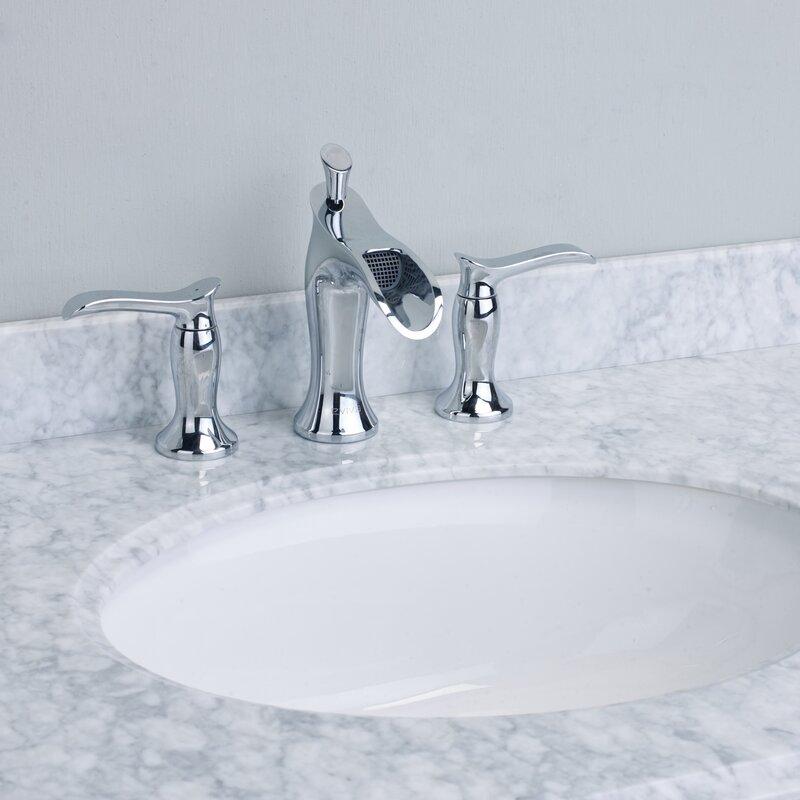 Beau Swan® Deck Mount Widespread Waterfall Bathroom Faucet