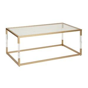 High Quality Metal And Glass Acrylic Coffee Table