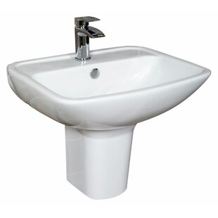 Chiltern Ceramic Rectangular 470 mm Semi Pedestal Basin by Belfry Bathroom