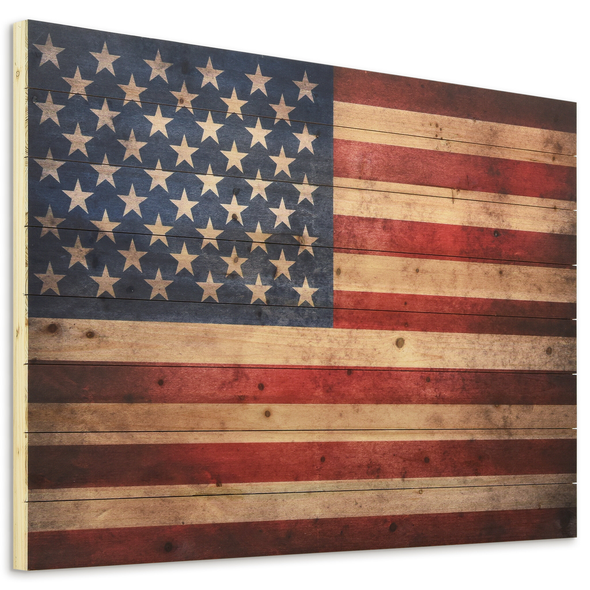 Wooden American Flag Wall Art   Wayfair