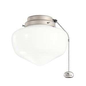 1-Light Schoolhouse Ceiling Fan Light Kit