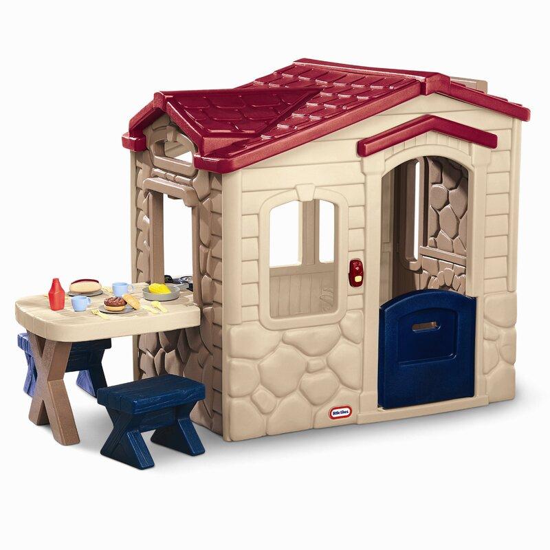 Cosy Little Tikes Home Garden Playhouse. Picnic on the Patio Playhouse Little Tikes  Reviews Wayfair