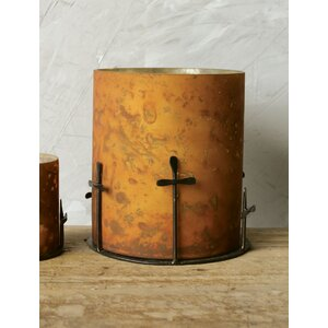 Sonoma Glass and Metal with Cross Votive