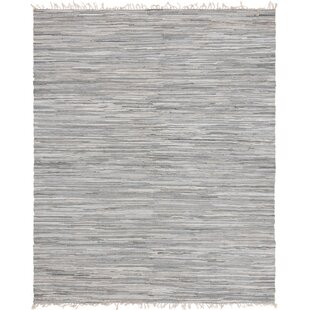 80cc42049 Marcell Chindi Hand-Knotted Cotton Gray Area Rug
