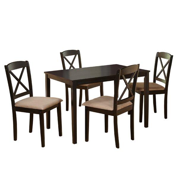 Elegant August Grove Scarlett 5 Piece Dining Set U0026 Reviews | Wayfair