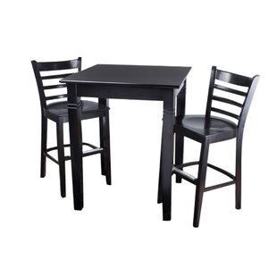 Eaglin Ladderback 3 Piece Pub Table Set