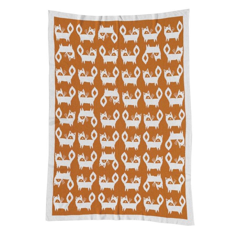 ac14398f6069 Lolli Living Woods Fox Mod Jacquard Blanket   Reviews