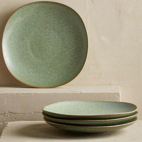 Terra Green Stone 9  Dinner Plates & VivaTerra Terra Green Stone 9