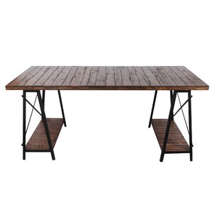 Chadbury Iron and Wood Dining Table by Tr..