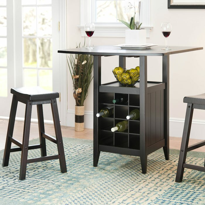 Alcott Hill Carisbrooke 3 Piece Pub Table Set in Espresso & Reviews ...