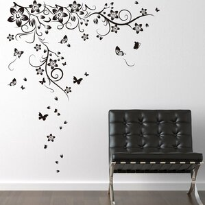New Huge Butterfly Vine Wall Decal