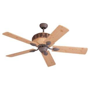 Deer antler ceiling fan wayfair 52 elvina pine 5 blade ceiling fan aloadofball Image collections