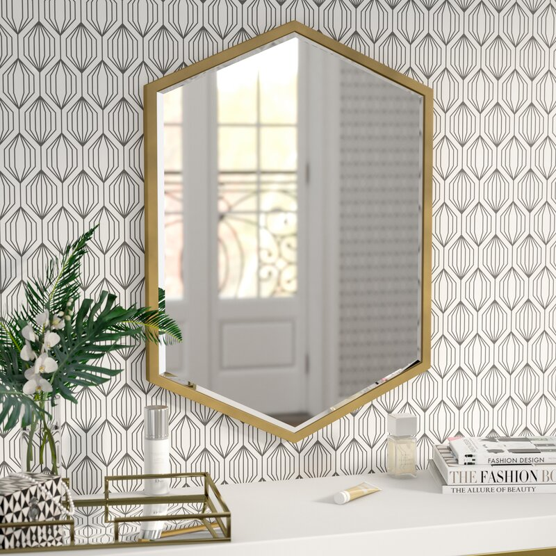 Willa Arlo Interiors Cherine Hexagon Wall Mirror Reviews Wayfair