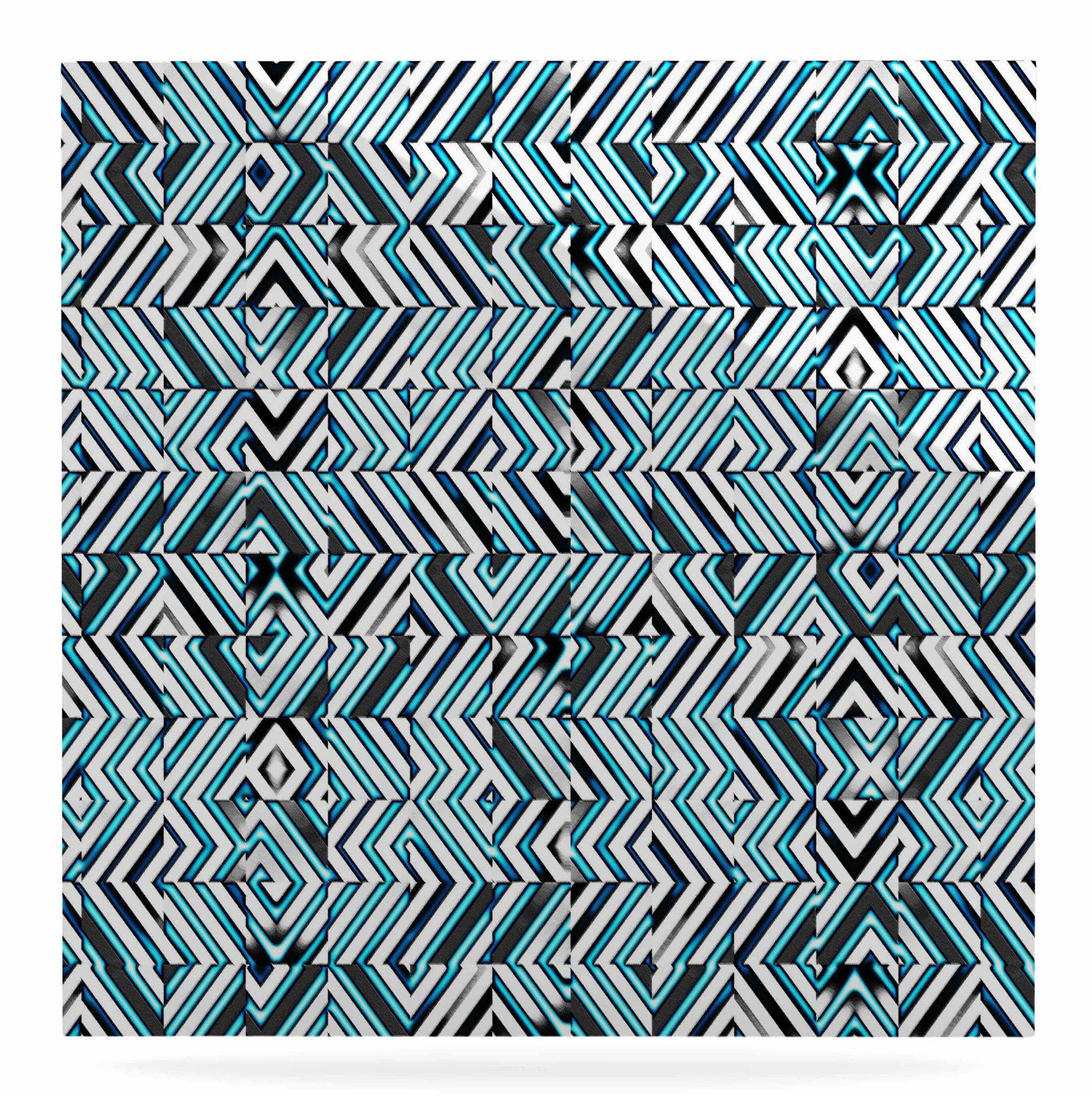 East Urban Home \'Maze Geometric Abstract 2\' Graphic Art Print on ...