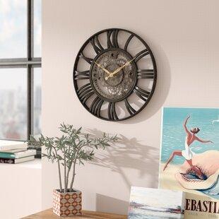Lehigh 15 Roman Gear Wall Clock
