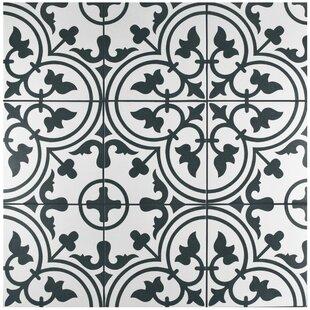 black and white tile floor. Artea 9.75\ Black And White Tile Floor L