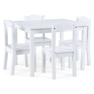Wondrous Balcom Wood Kids 5 Piece Rectangular Table And Chair Set Alphanode Cool Chair Designs And Ideas Alphanodeonline