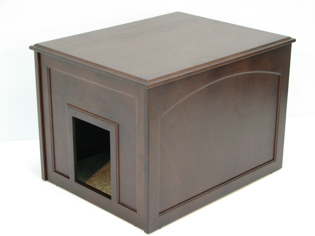 Cat Condo u0026 Litter Box Enclosure  sc 1 st  Wayfair & Crown Pet Products Cat Condo u0026 Litter Box Enclosure u0026 Reviews ... Aboutintivar.Com