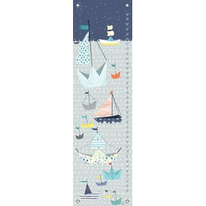 paper boat by mara penny canvas growth chart