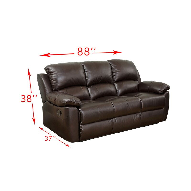 Recliner Sofa Bed Funes Top Grain Leather Reclining Sofa