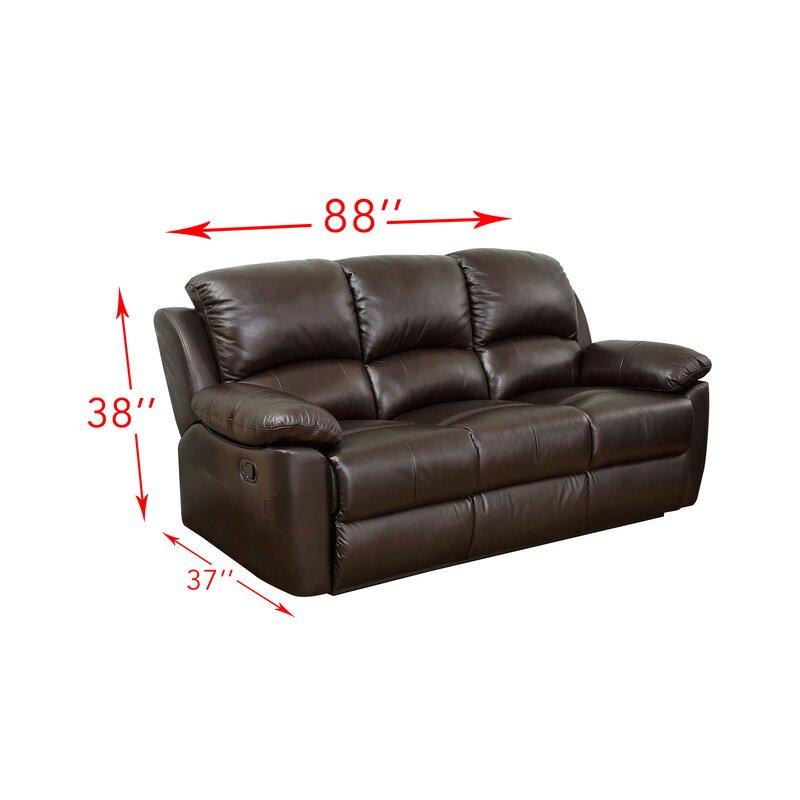 Recliner Sofa Bed Funes Top Grain Leather Reclining