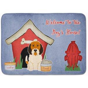 Dog House Petit Basset Griffon Veenden Memory Foam Bath Rug