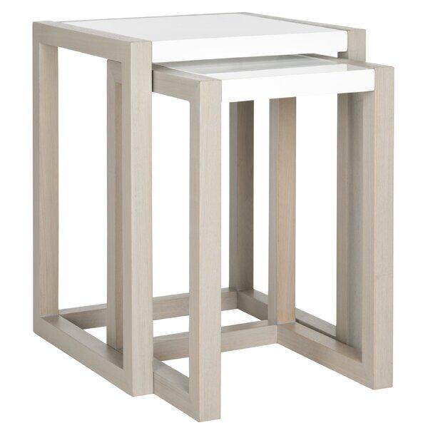 Safavieh Egan 2 Piece Nesting Table Set Amp Reviews Wayfair