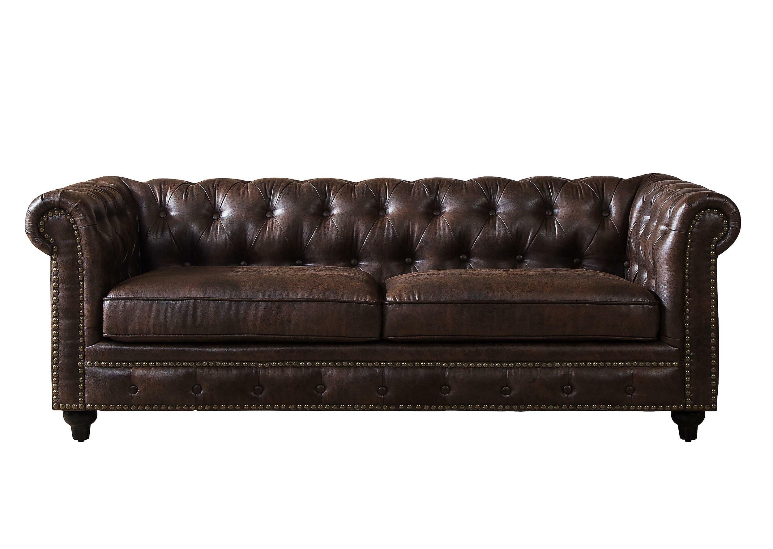 Merveilleux Mangano Tufted Chesterfield Sofa