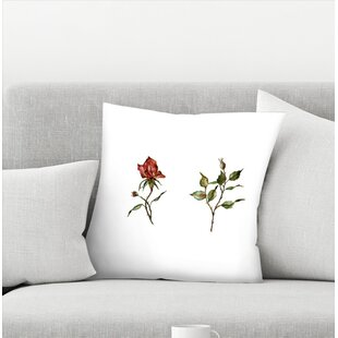Shealeen Louise Loose Rose Buds Throw Pillow