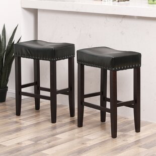 Caulksville Well-Padded Ergonomic 26.4 Bar Stool (Set of 2)