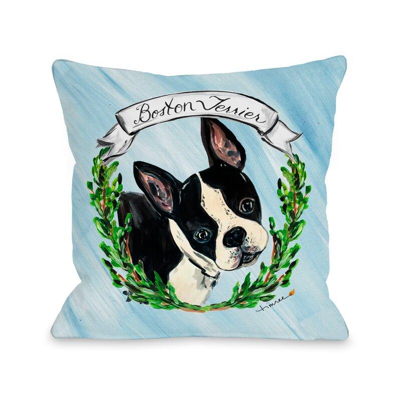 One Bella Casa Boston Terrier Throw Pillow Wayfair Adorable Boston Terrier Decorative Pillow