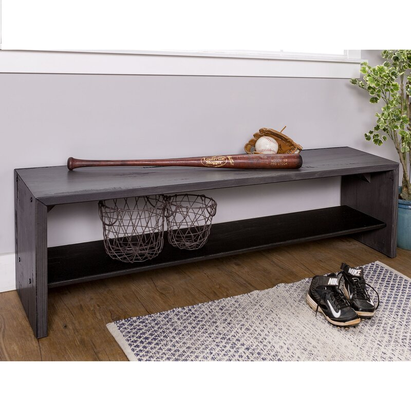 Reclaimed Solid Wood Sideboard Storage Bench: Arocho Rustic Solid Reclaimed Wood Storage Bench & Reviews