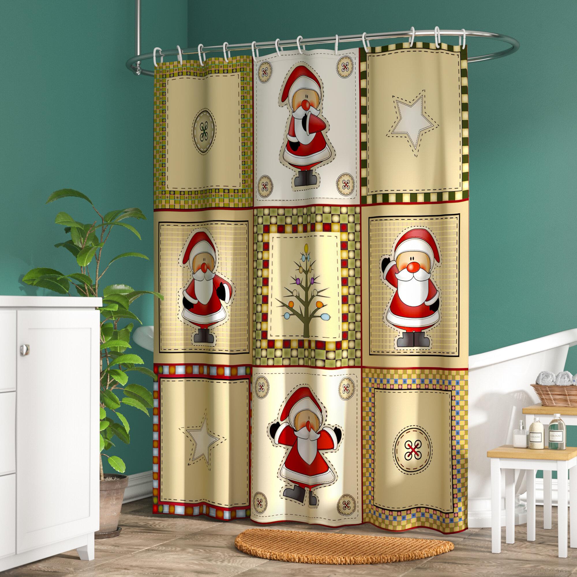 The Holiday Aisle Americana Holiday Shower Curtain & Reviews | Wayfair