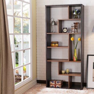 Salyer Geometric Bookcase Ebern Designs Finish: Espresso