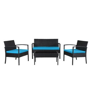 Jefferies 4-Piece Wicker Seating Group